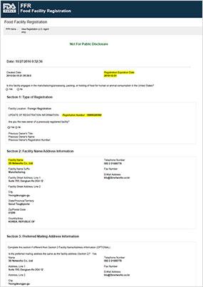 FDA Facility Registration